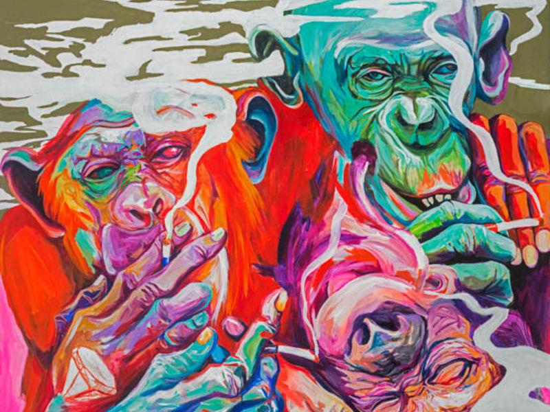 Washington Guayasamín - Monos y Humo