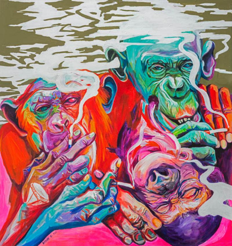 Washington Guayasamín - Monos y Humo   Artex Collection