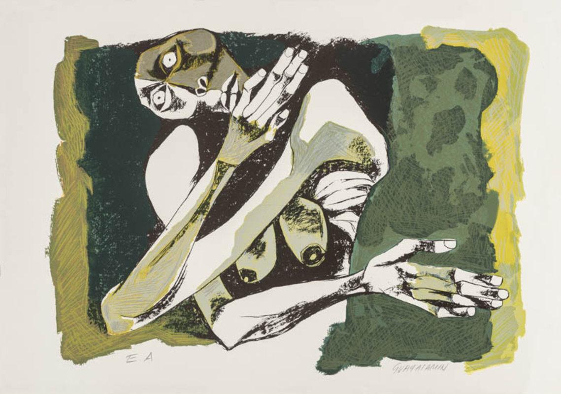 Oswaldo Guayasamín - Mujer Desnuda (E/A) | Artex Collection