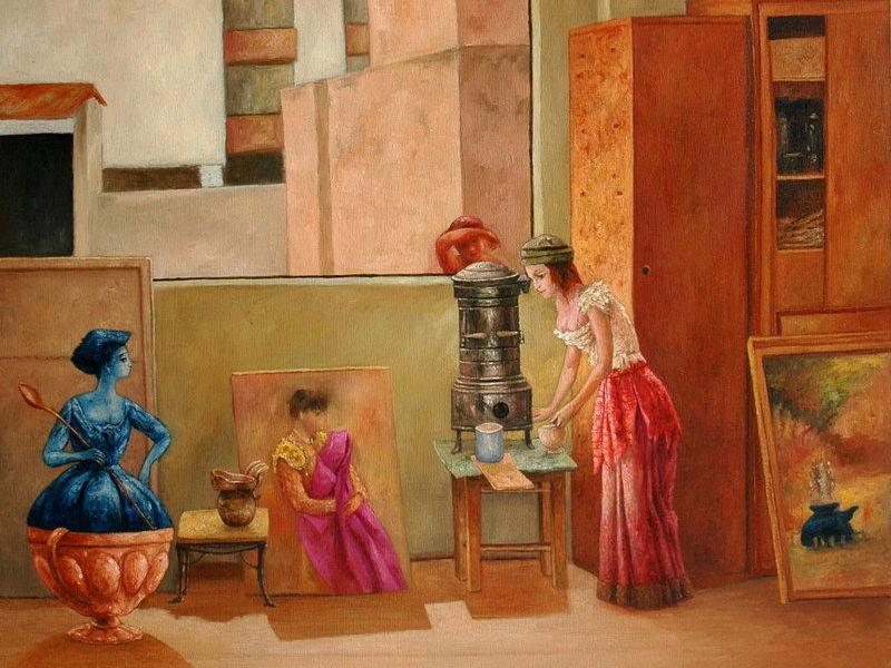 Washington Mosquera - En el taller del pintor