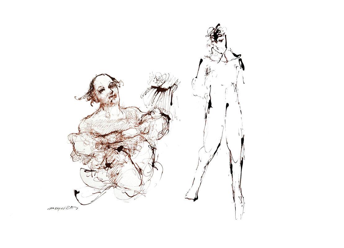 Washington Mosquera - En el taller del pintor 2 | Mosquera Washington