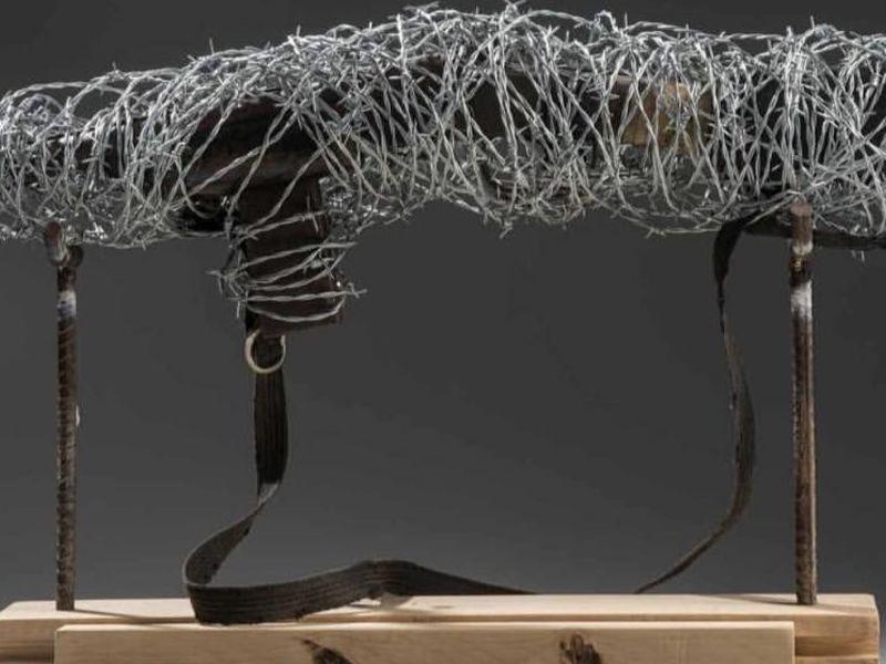 Carabina en alambre de pùas