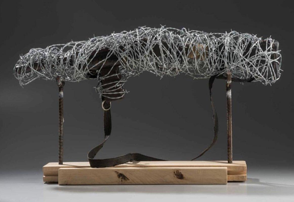 Carabina en alambre de pùas  | Cabrera Ricardo