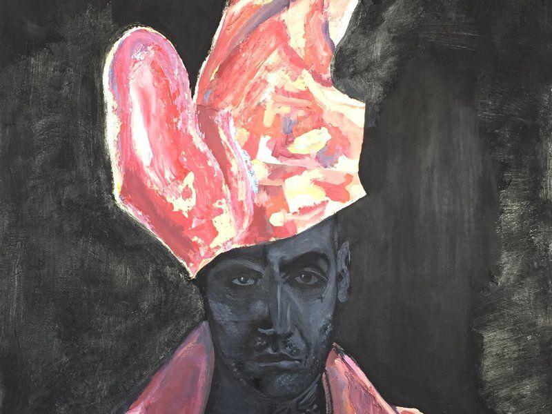 Sombrero y chaqueta de carne humana