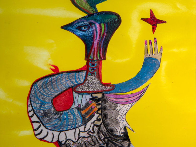 Mujer cabeza de águila