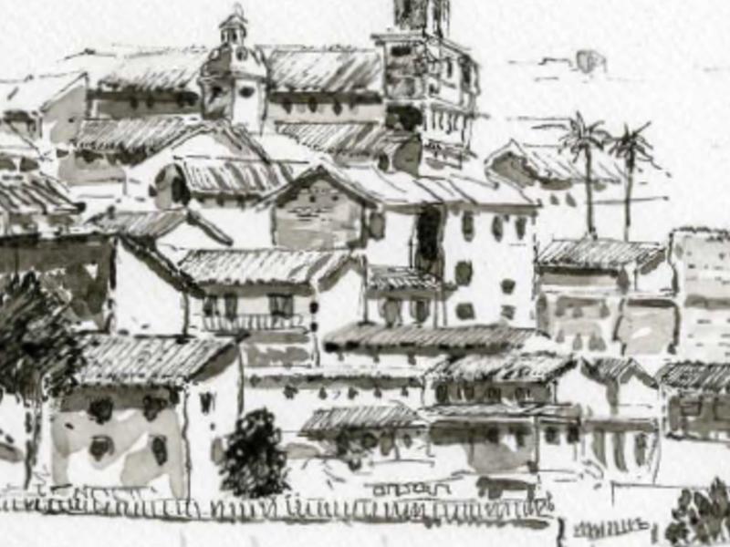 Centro Histórico Quito desde La loma Grande