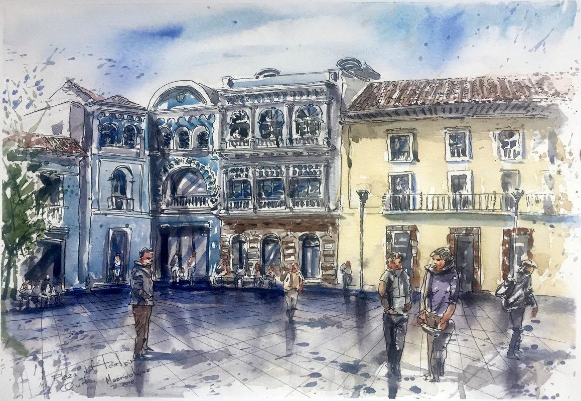 Esquina en la Plaza del Teatro | López Mauricio Arturo
