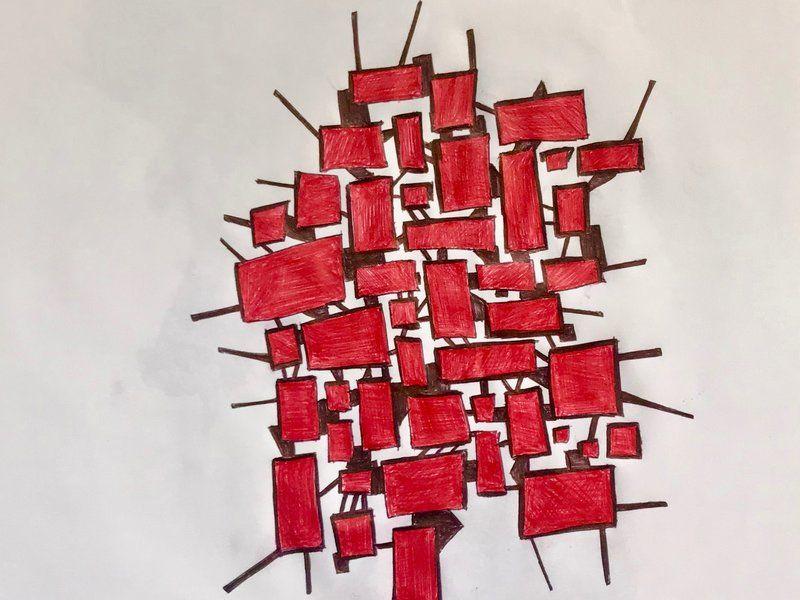 Formas en rojo  - González Juan Francisco | ARTEX