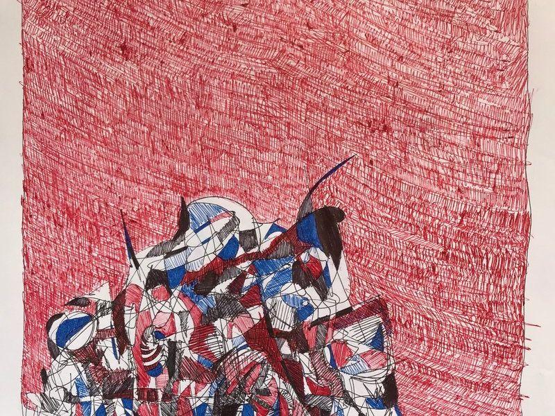 Espectro en fondo rojo - González Juan Francisco | ARTEX