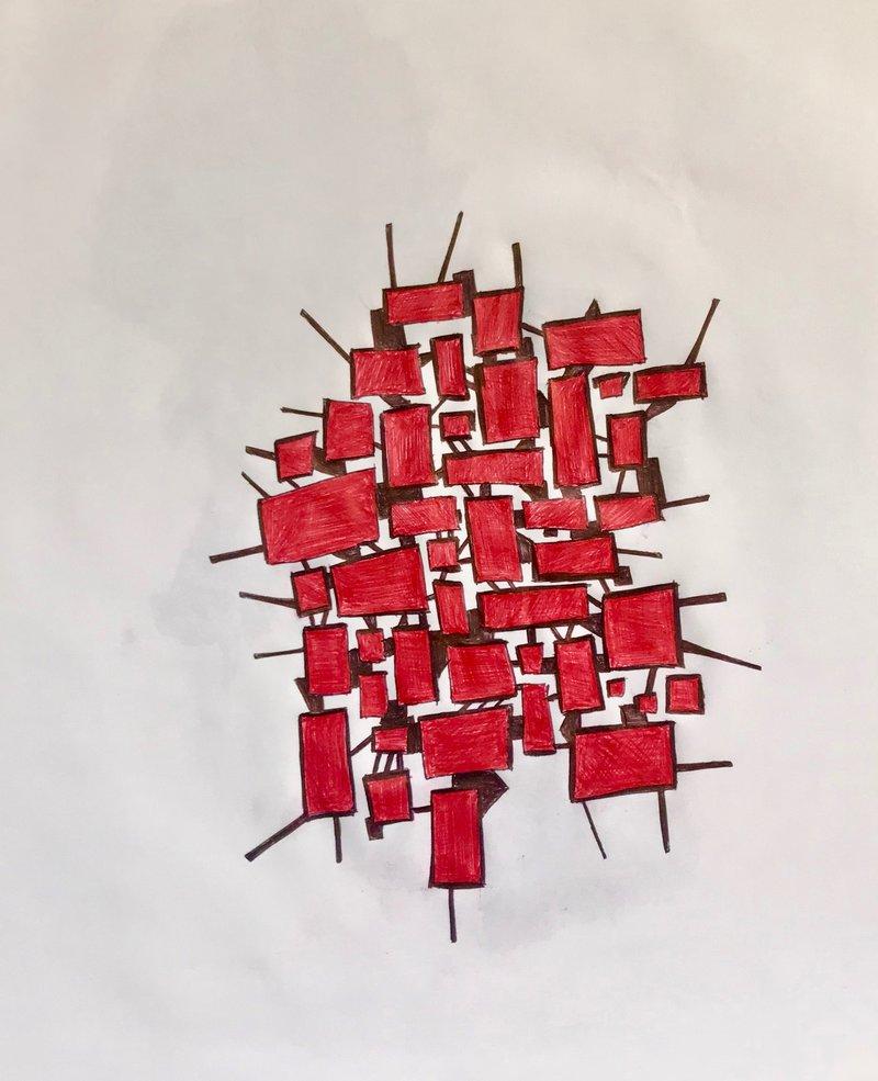 Formas en rojo  | González Juan Francisco