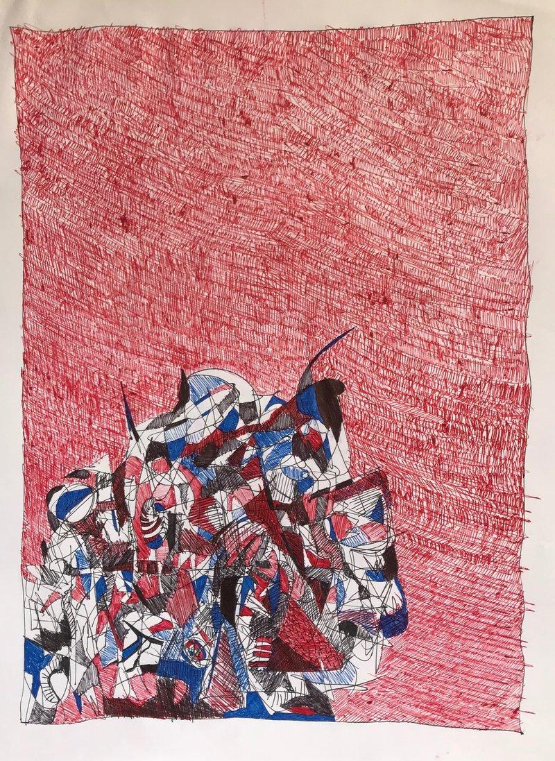 Espectro en fondo rojo | González Juan Francisco