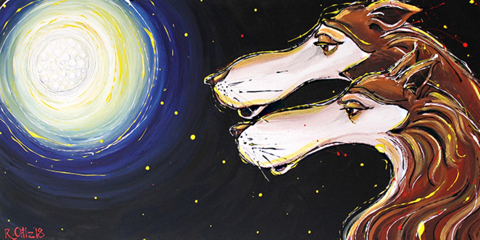 Ortiz Roberto / lobos a la luna | Ortiz Roberto