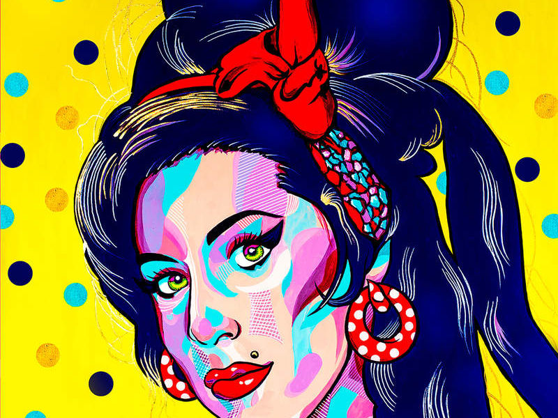 AMY IN YELLOW / POP ART