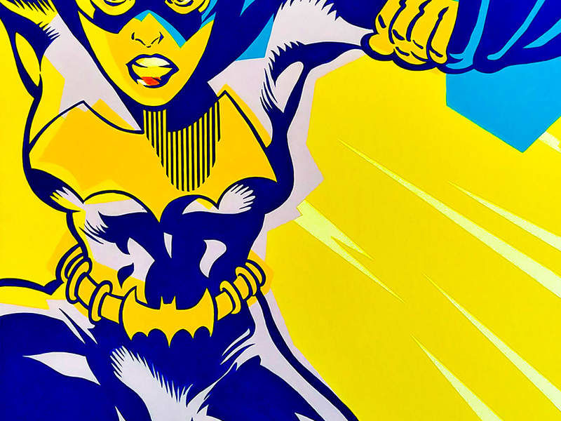 BAT GIRL / POP ART