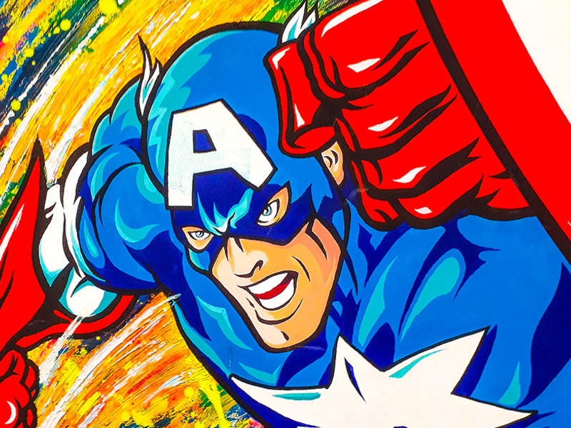 CAPTAIN AMERICA / POP ART