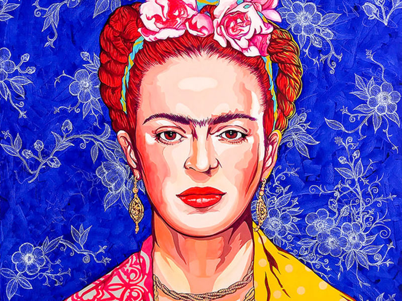 FRIDA IN BLUE / POP ART