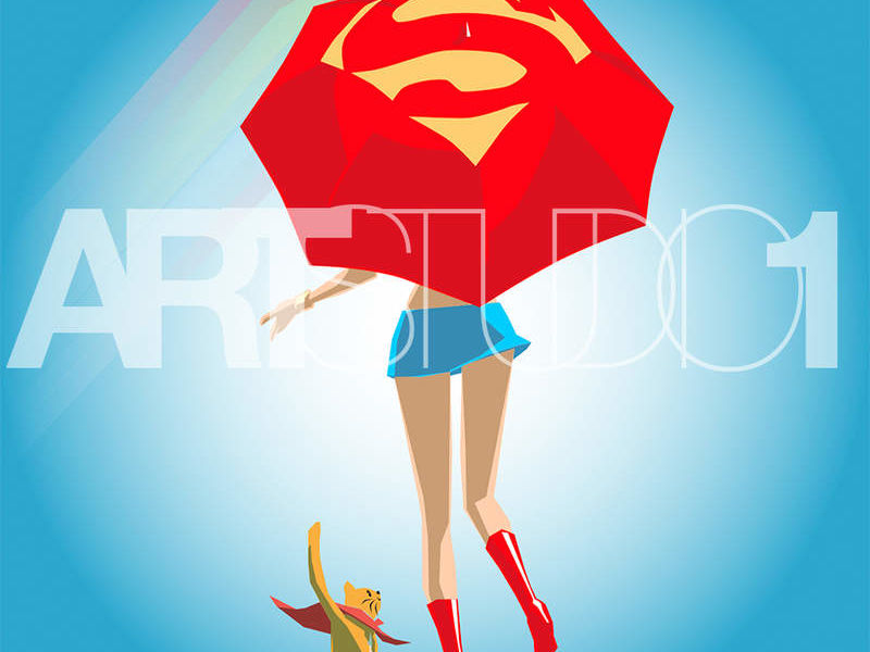 SUPER GIRL / POP ART