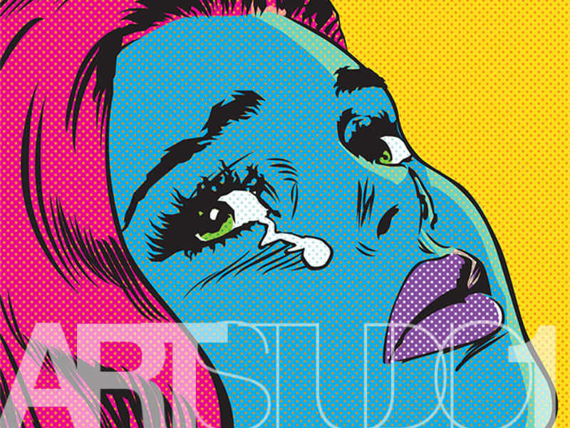 CRY BLUE GIRL / POP ART