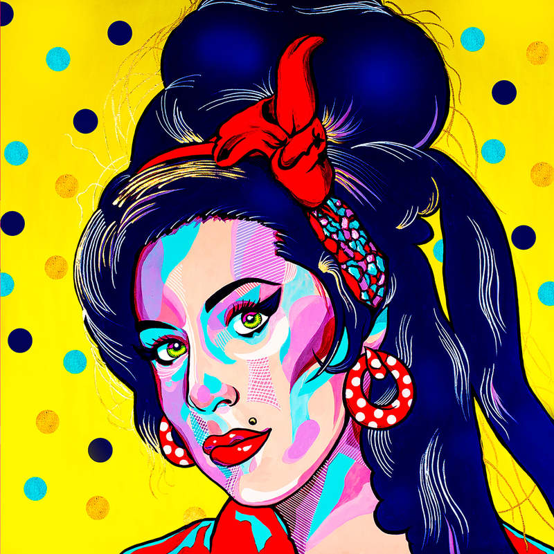 AMY IN YELLOW / POP ART | Tobar Jose