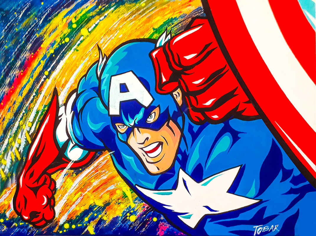 CAPTAIN AMERICA / POP ART | Tobar Jose