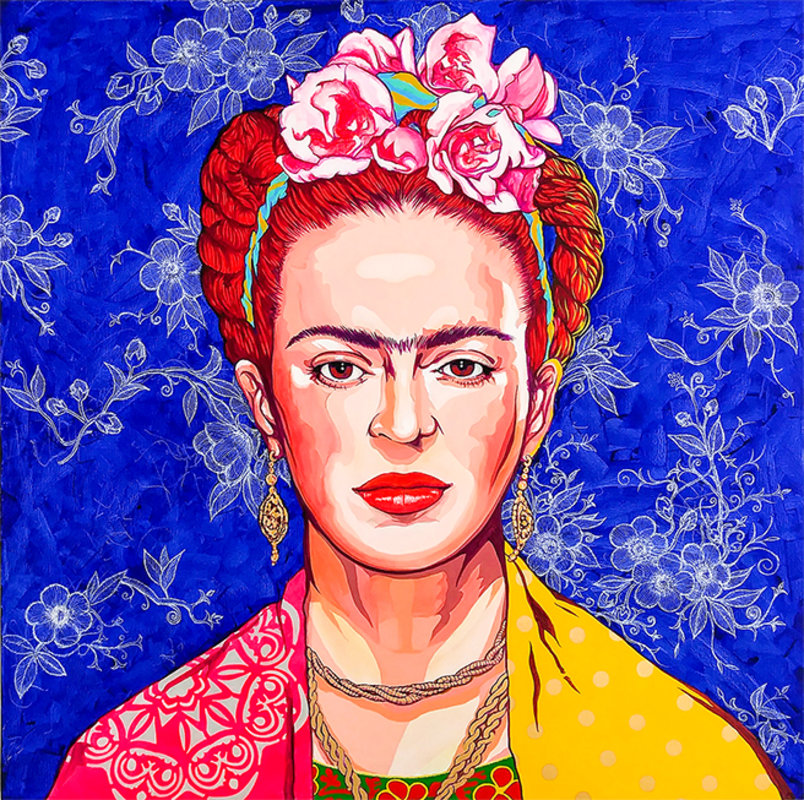 FRIDA IN BLUE / POP ART | Tobar Jose
