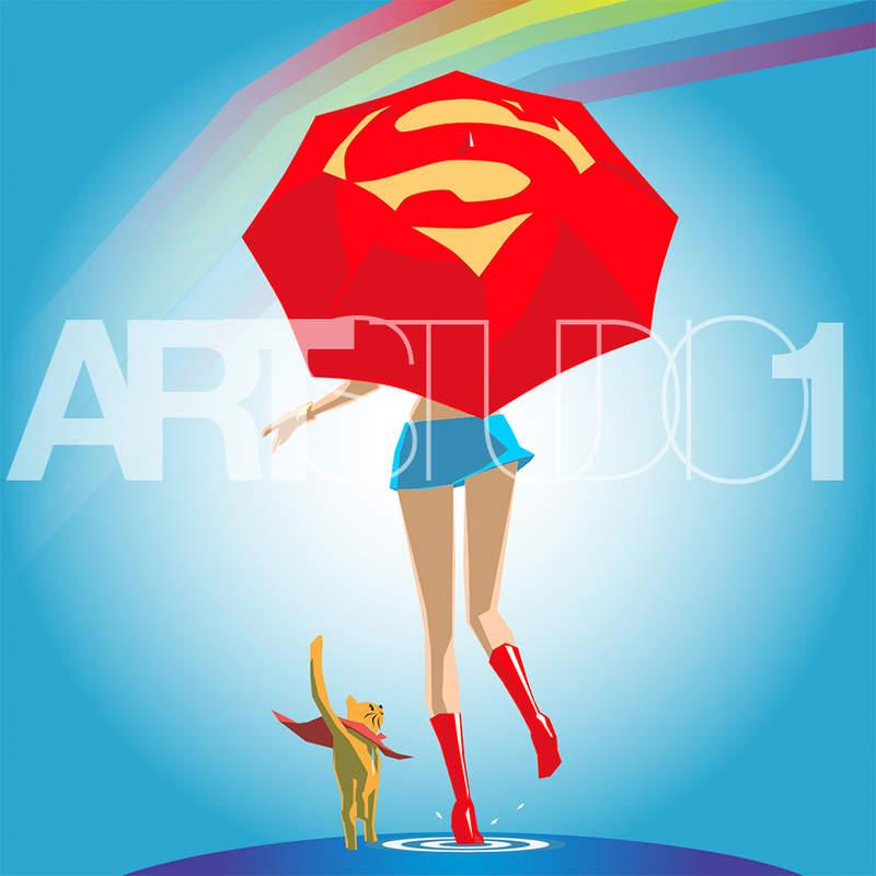 SUPER GIRL / POP ART | Tobar Jose