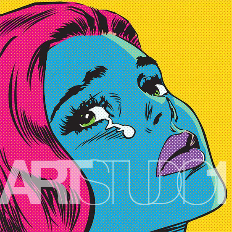 CRY BLUE GIRL / POP ART  | Tobar Jose