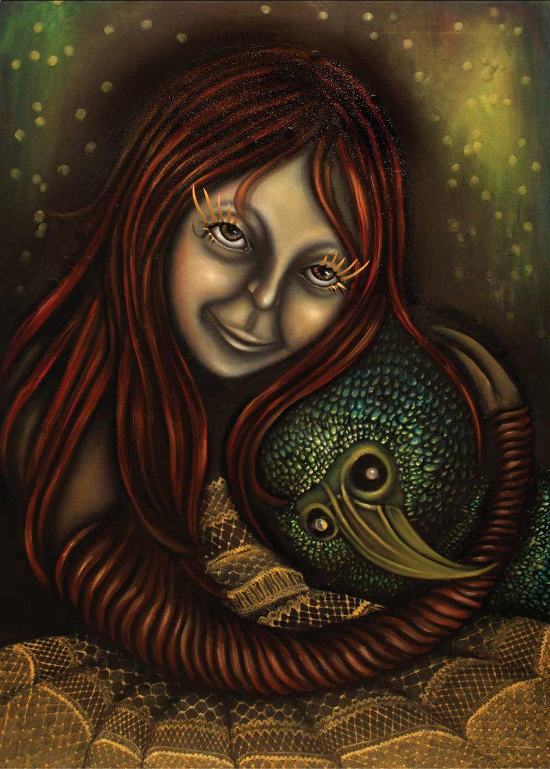 Niña y pájaro | Armas Diana