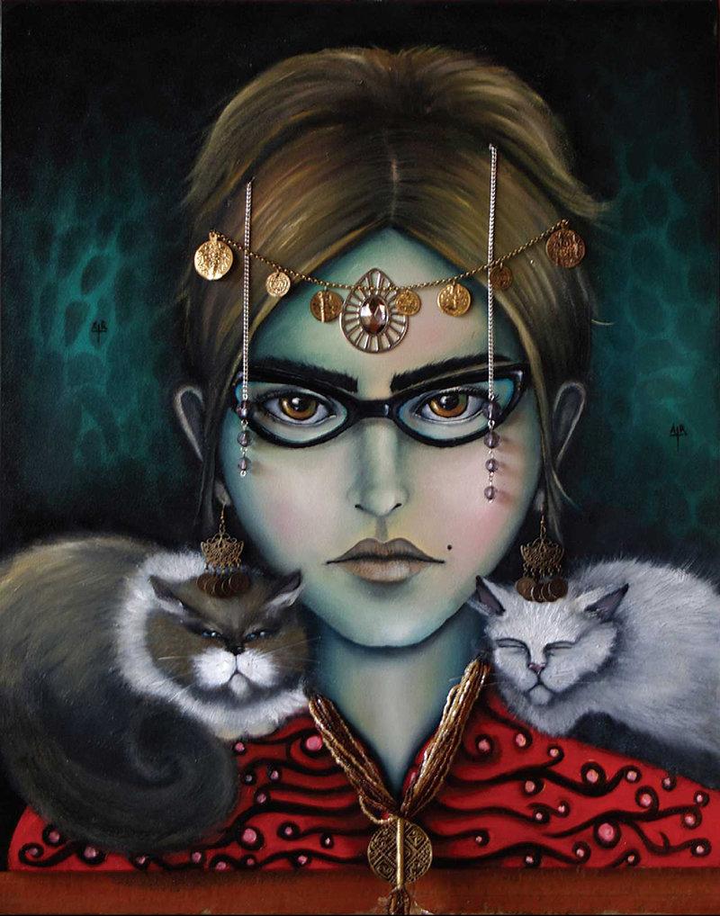 Diana Armas / Autoretrato con gatas | Armas Diana