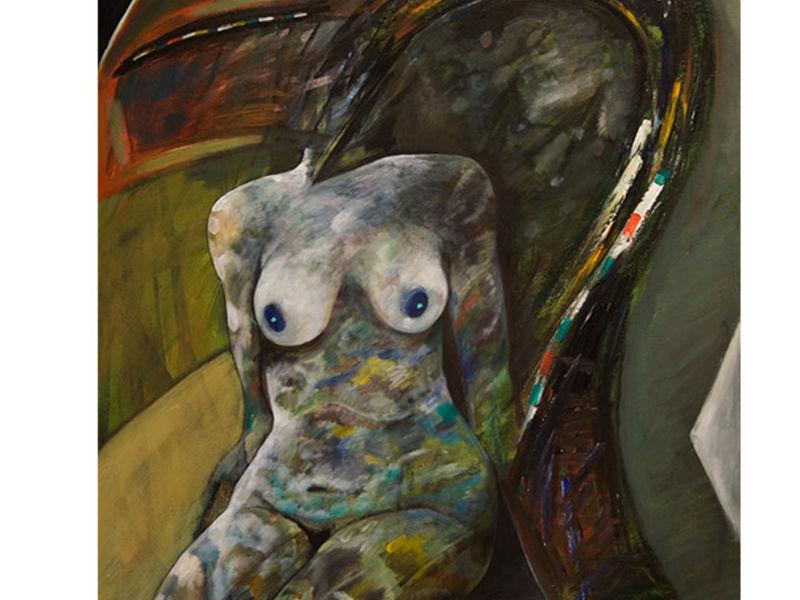 Desnudo en el sillón