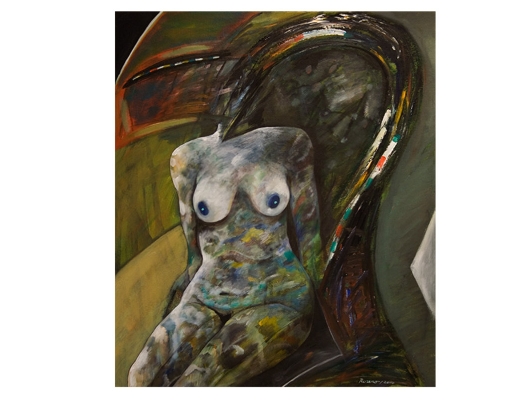 Desnudo en el sillón | Rosero Carlos